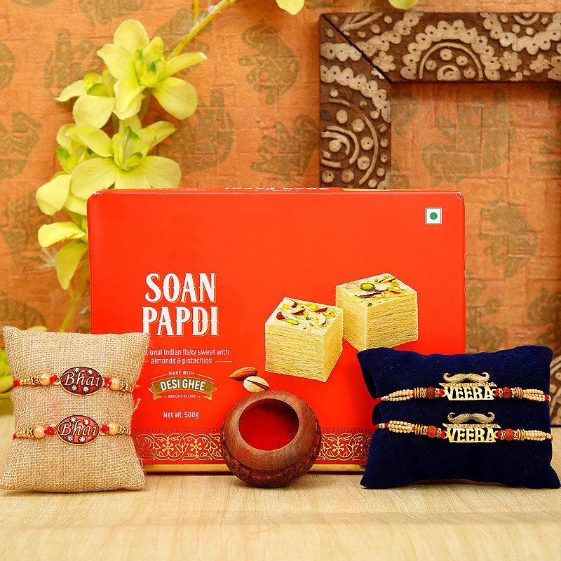 Sweet Veera Bhai Rakhi Combo