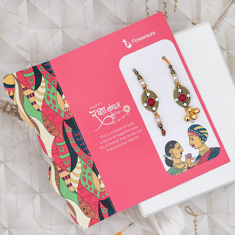Designer Rakhi with Sweets