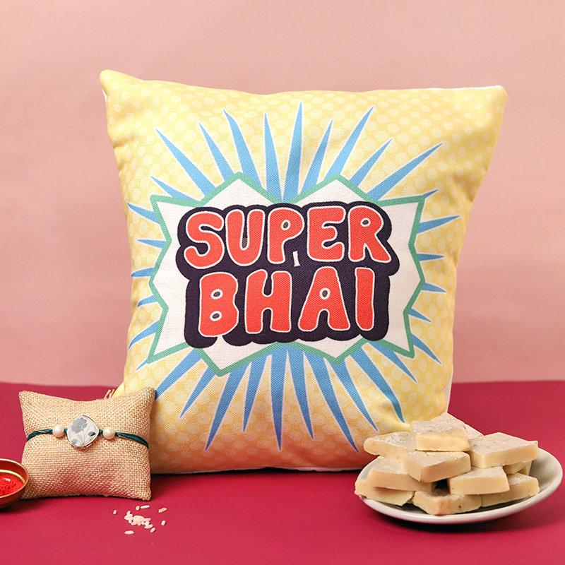 Sweets Cushion N Rakhi