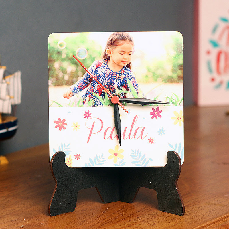 Table Photo Clock - 5 Inch Personalised Table Clock