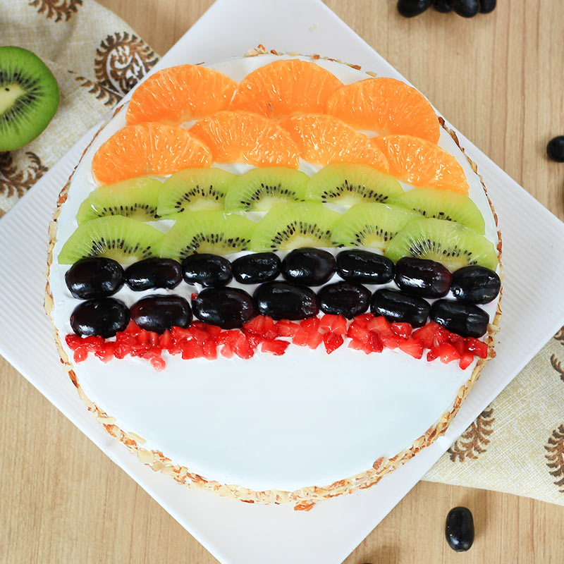 Tantalizing Delight - Fruit Cake with Top View
