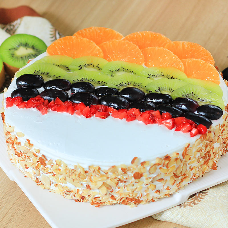 Tantalizing Delight - Fruit Cake with Zoomed in View