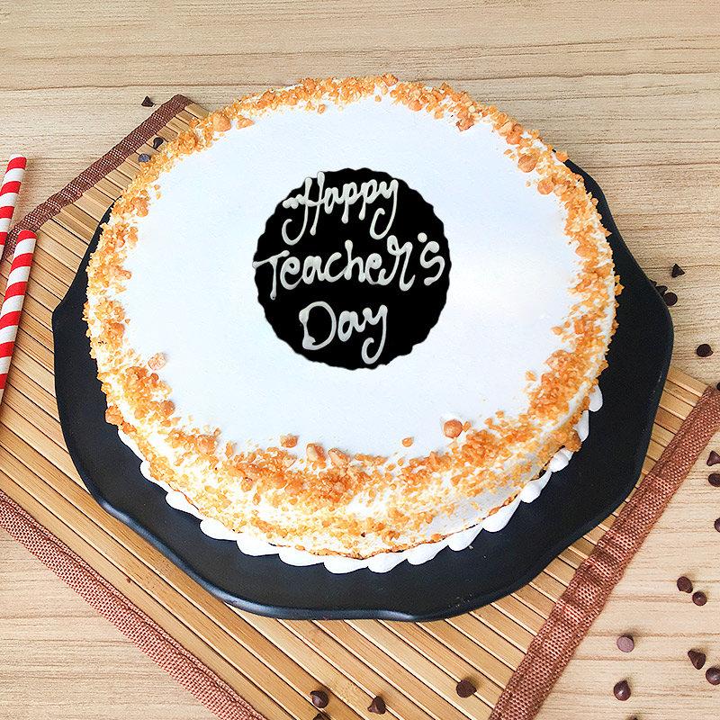 Teachers Day Butterscotch Cake