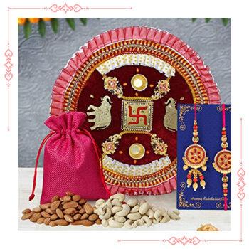 Send Online Rakhi With Thali