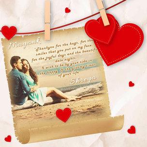 Personalised Digital Love Scroll for Loved One