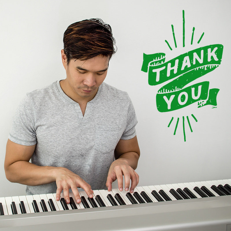 Musical Thank You With Piano Song