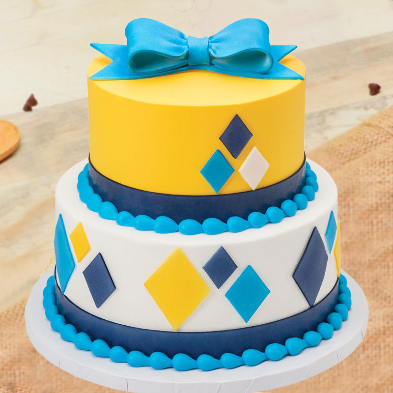 2 Tier Colorful Party Cake