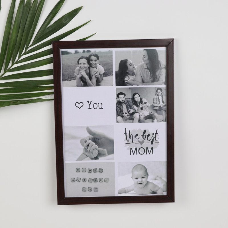 The Best Mom Photo Frame - Personalised A4 Size Wall Frame