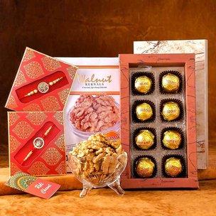 The Choco Nutty Rakhi Hamper