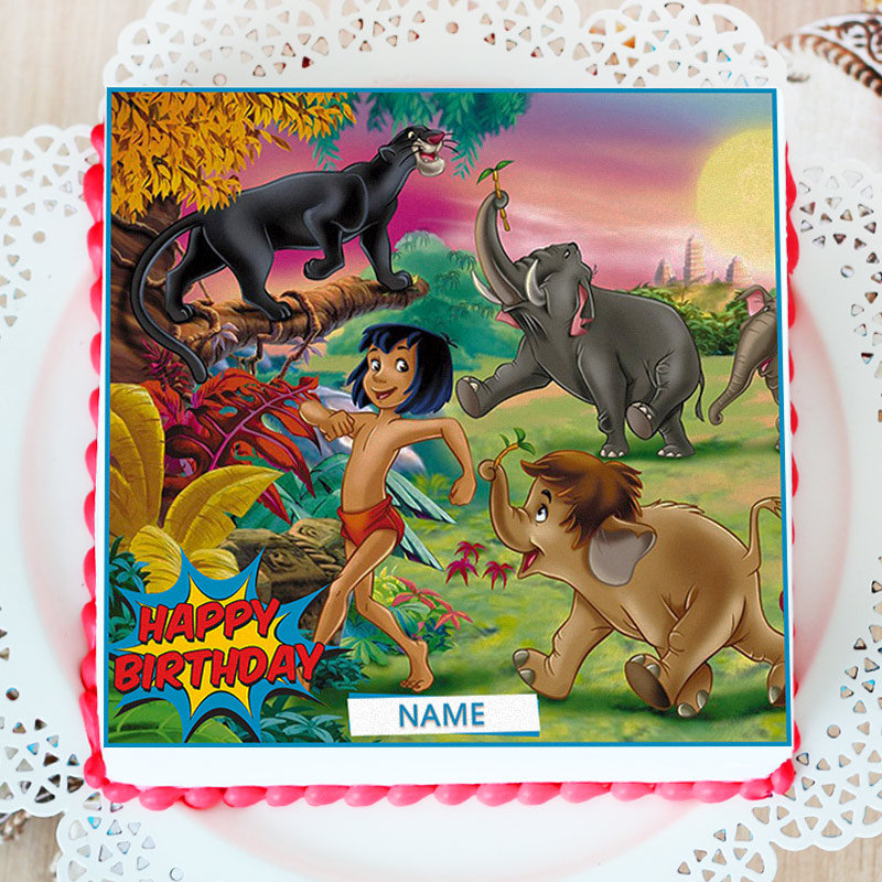 Jungle Book Birthday Photo Cake