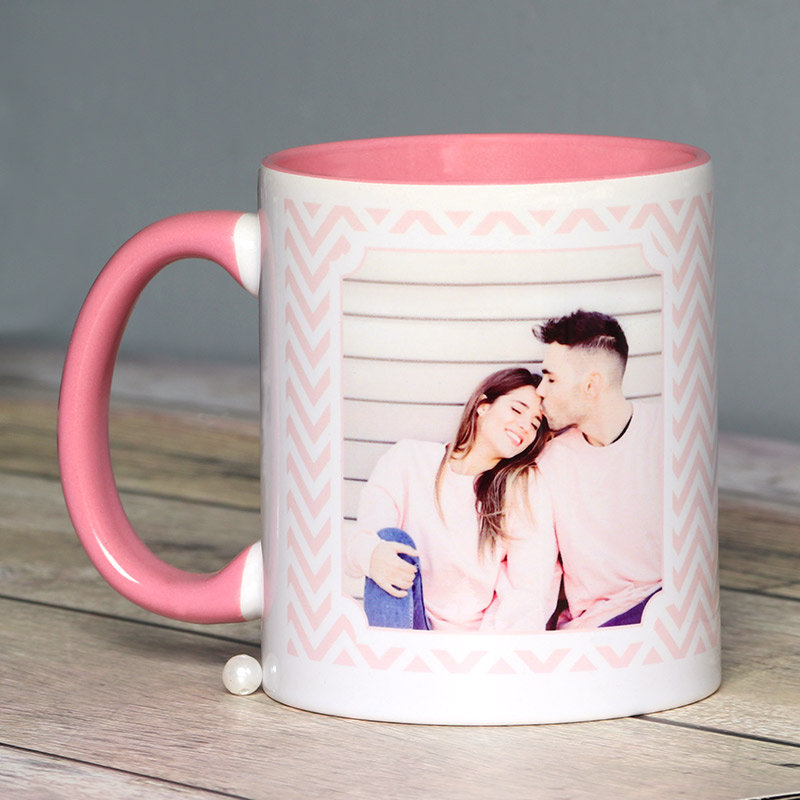 Lovey Dovey Personalised Mug with Back Sided View