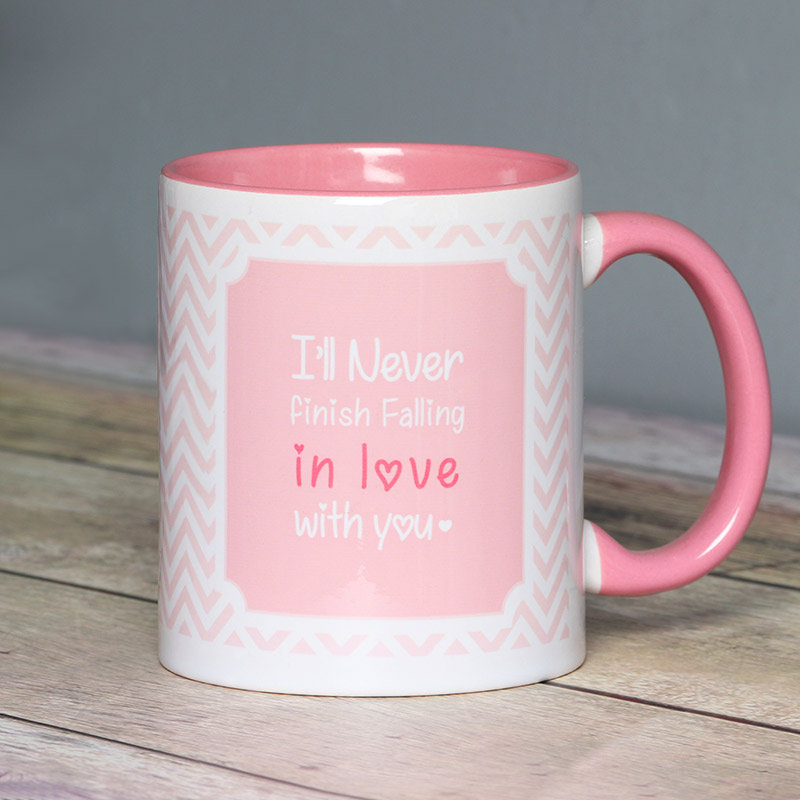 Lovey Dovey Personalised Mug with Front Sided View