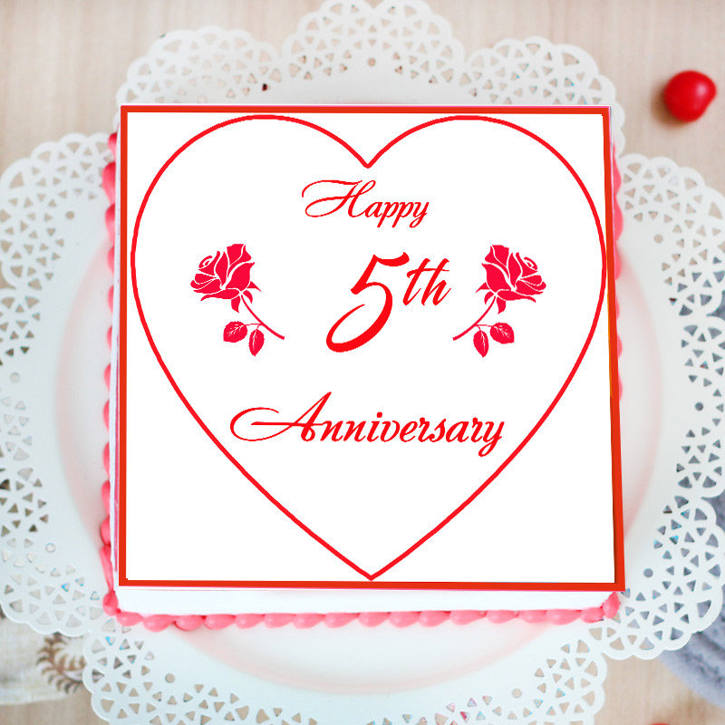 Happy 5th Anniversary Poster Cake