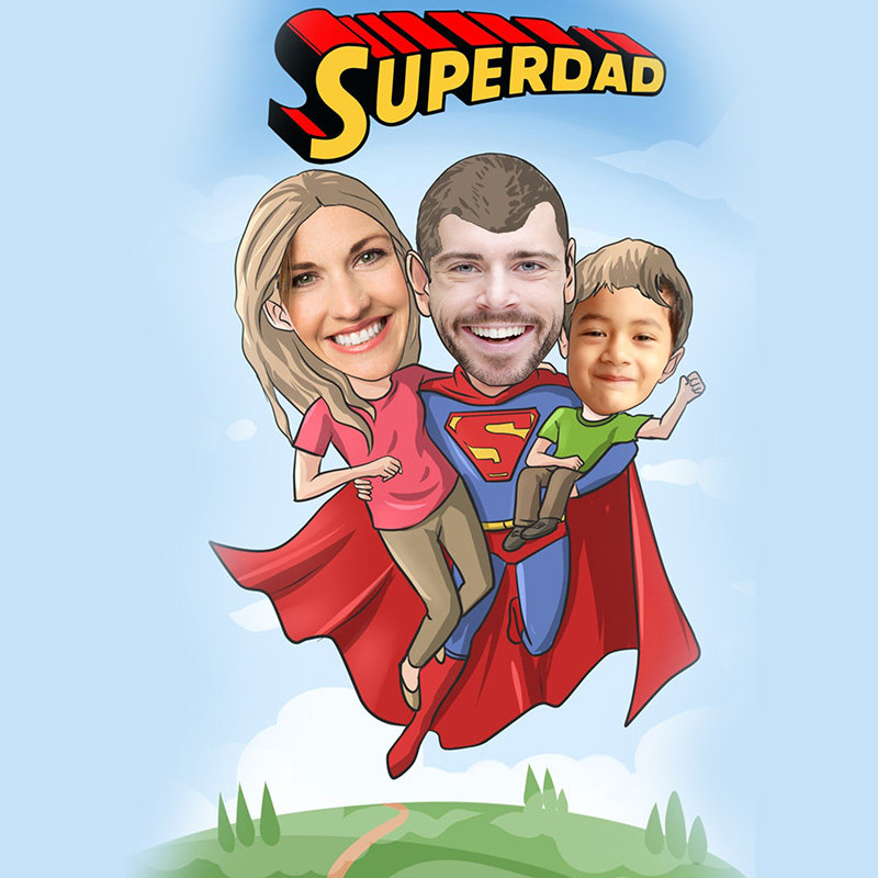 Super Dad Caricature Gift