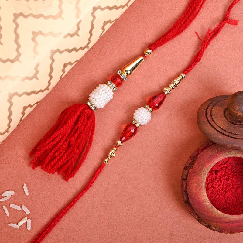 One Bhaiya Bhabhi Rakhi - Thread Of Love Rakhi