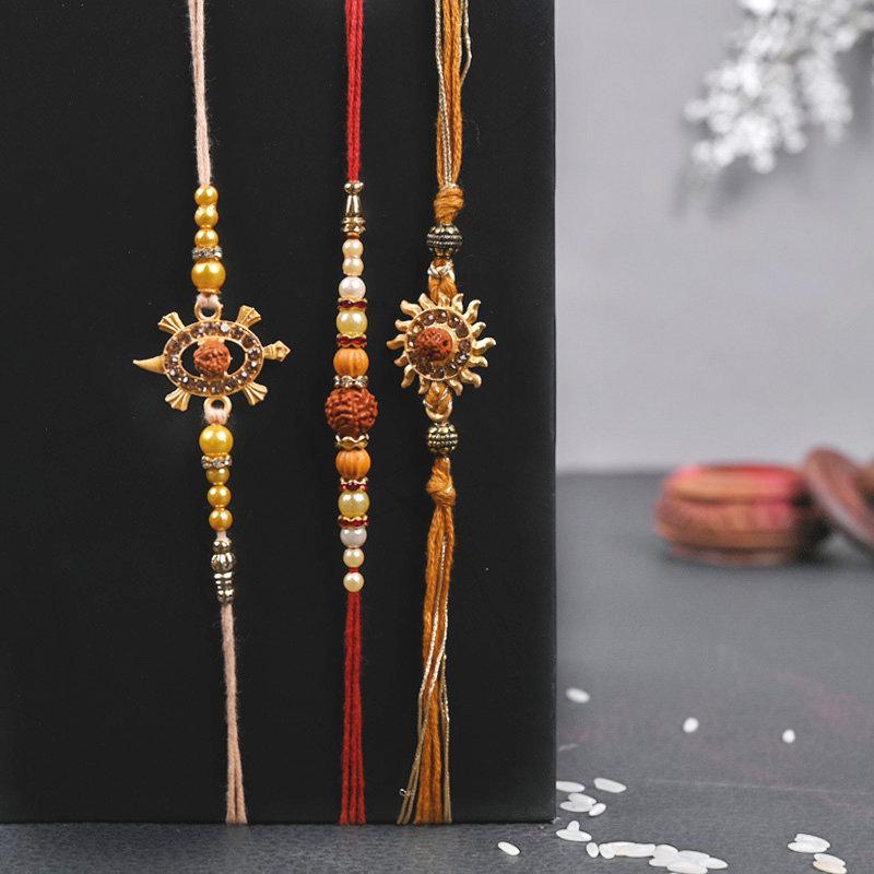 Set of 3 Designer Rakhi - Three Designer Rakhi