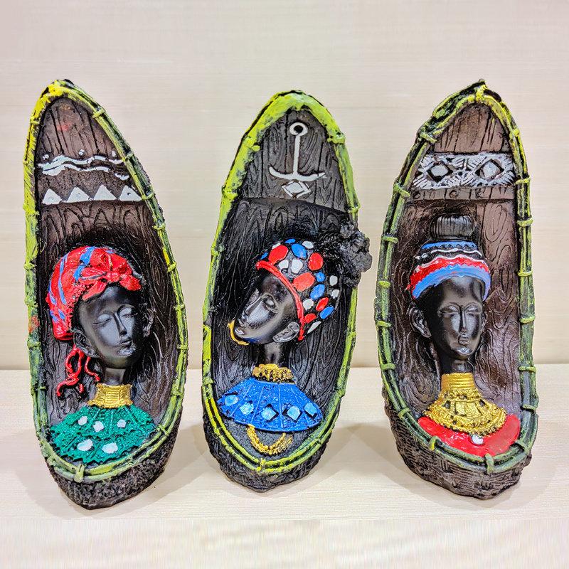 Three Gorgeous Black Lady Idols- Material - Poly Rezine Clay