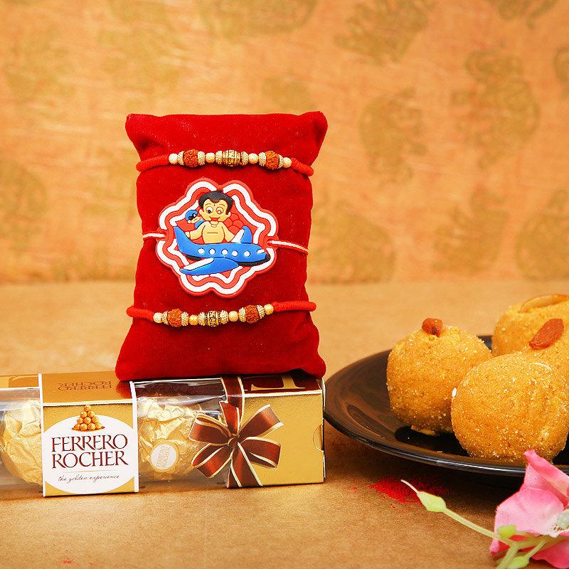 Three Rakhi Delights Hamper