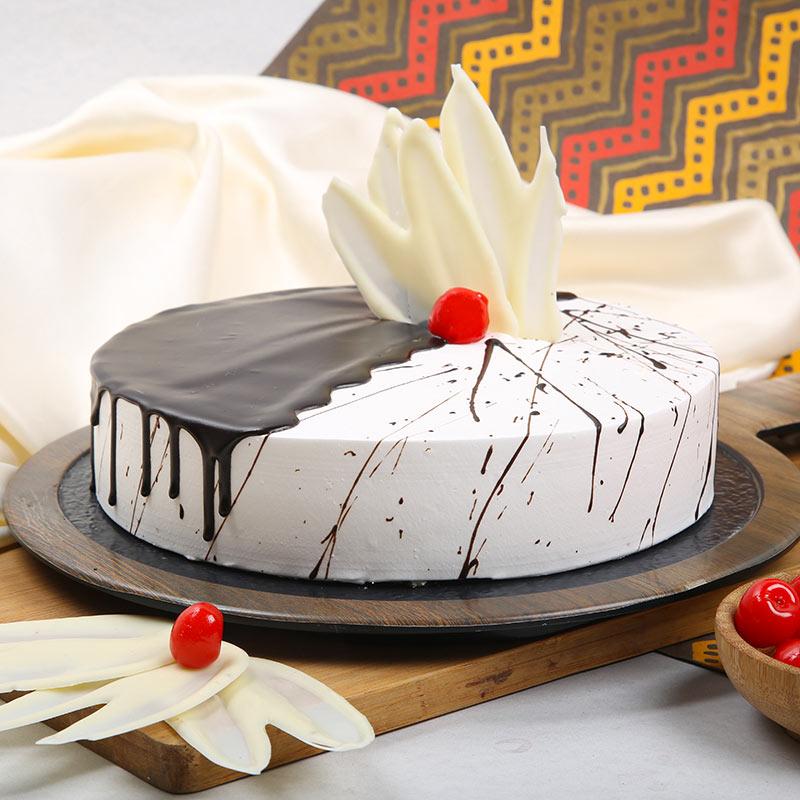 Online Choco Vanilla Birthday Cake Delivery