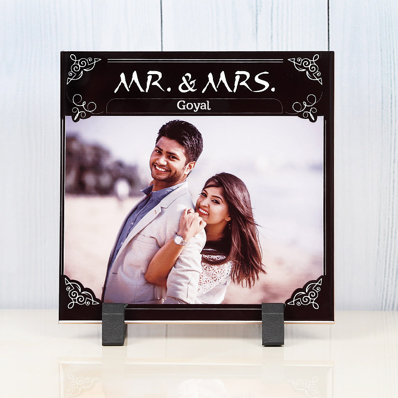 Personalised Ceramic Tile for Couple