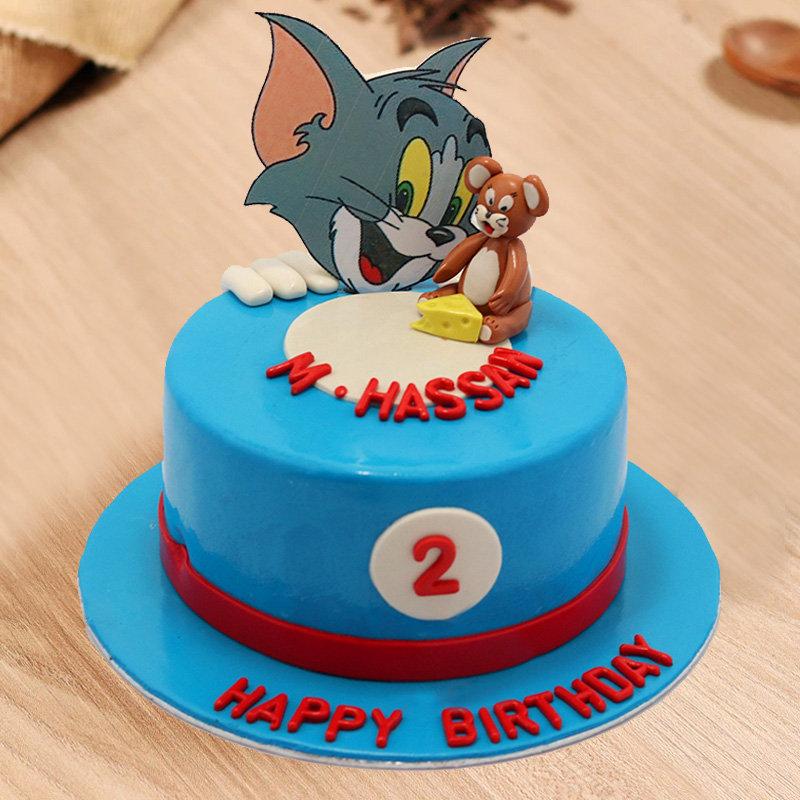 Tom and Jerry Birthday Fondant Cake
