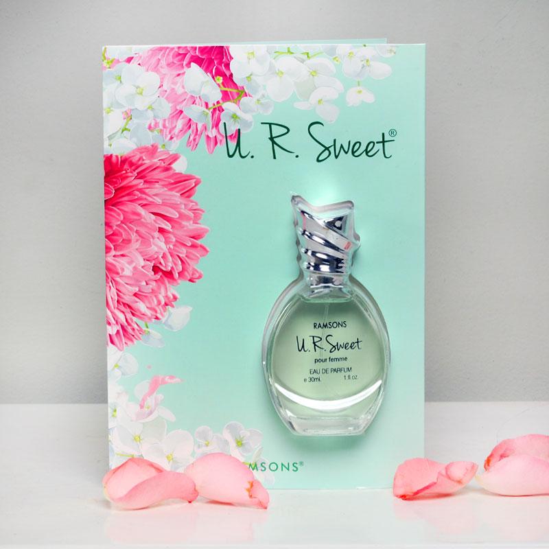 Too Sweet Scented Greetings-Greeting Card with 30ml U R Sweet Perfume