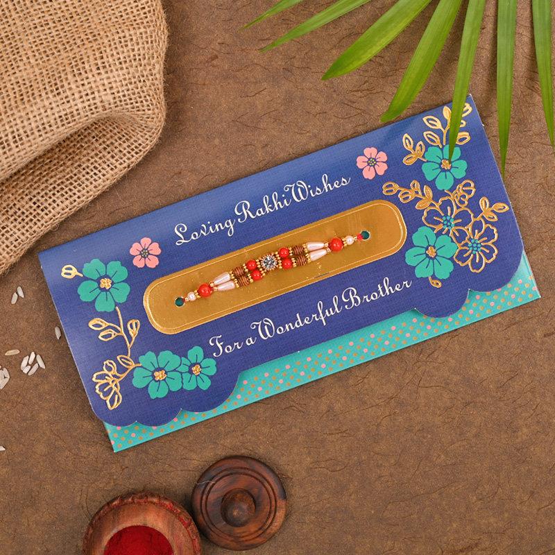 Traditional Designer Rakhi Card
