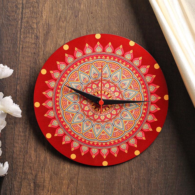 Traditional mandala clock