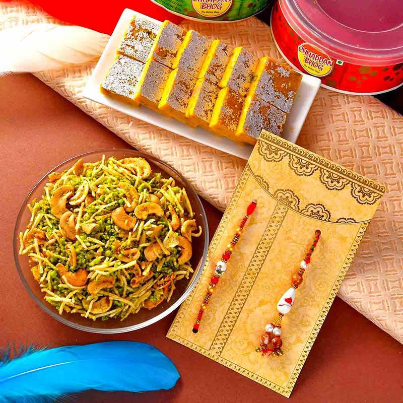 Traditional Rakhi And Treats Hamper