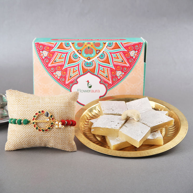 Traditional Rakhi With Sweets