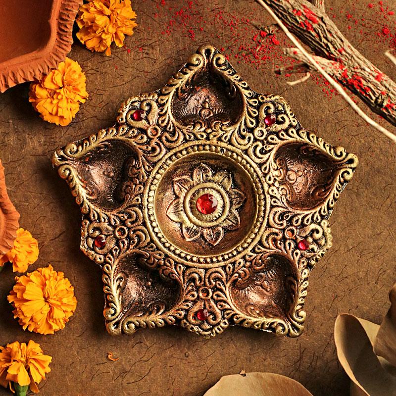 Traditional Terracotta Diya
