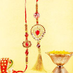Traditional Wishes Rakhi Combo