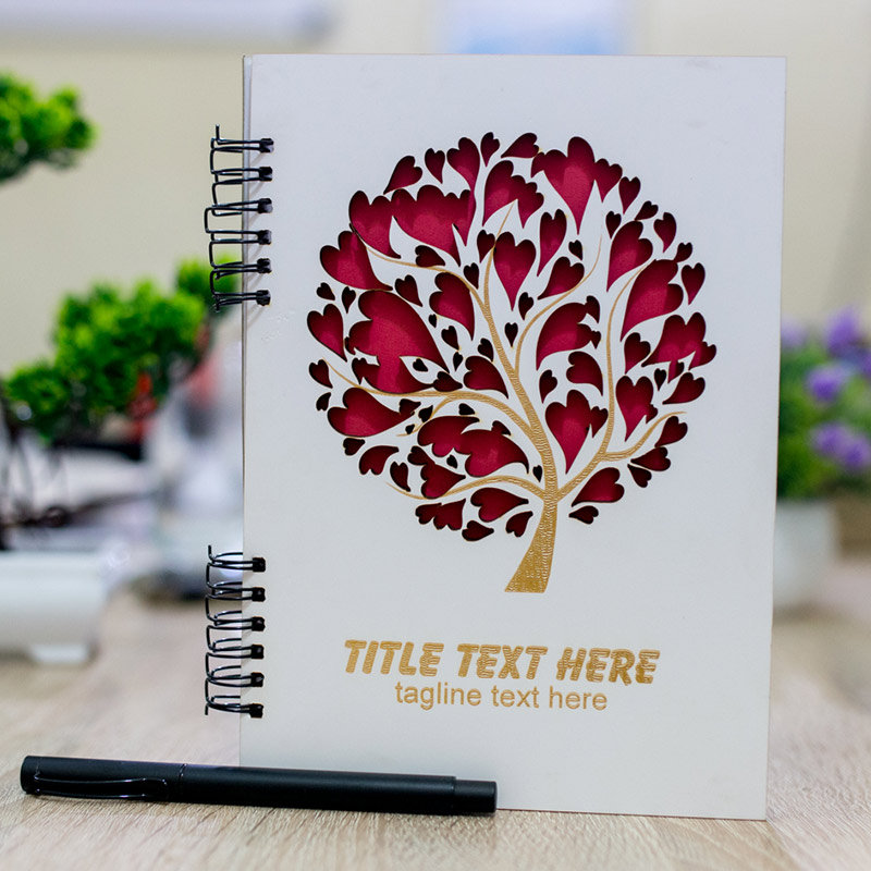 Tree of Love Personalized Diary and Pen - Rakhi Gifts for Sister Online