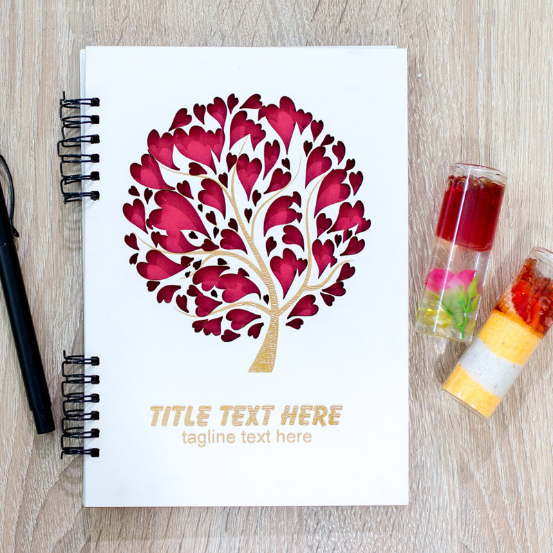 Tree of Love Personalized Diary and Pen