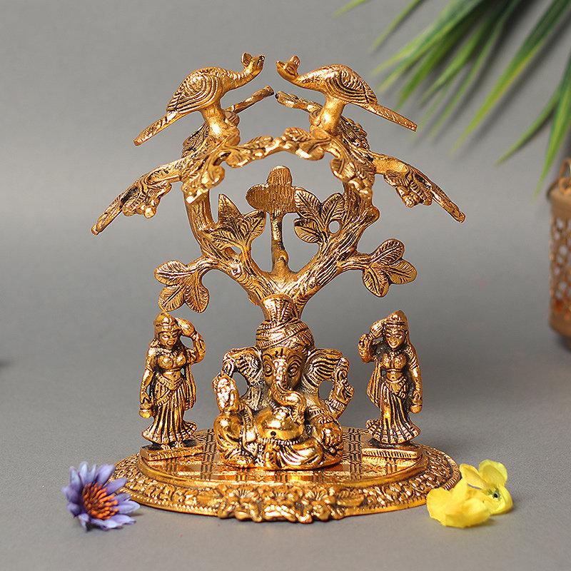 Tree Turbanator Ganesha Idol - Material - Metal