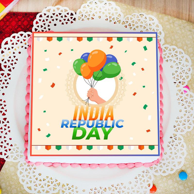 Tricolour Republic Day Cake