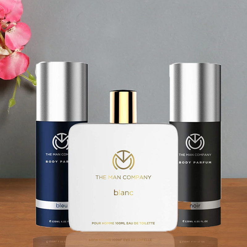 Triple Perfume Paradise - A Combo Gift Pack of Bleu and Noir and Blanc Body Perfume