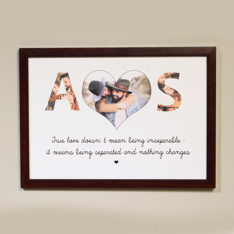 True Love wall Frame Gift for Valentine's Day