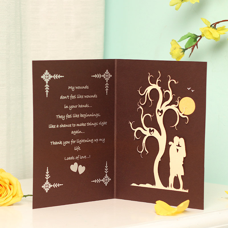 Inner view I Love You 3D Greeting Card