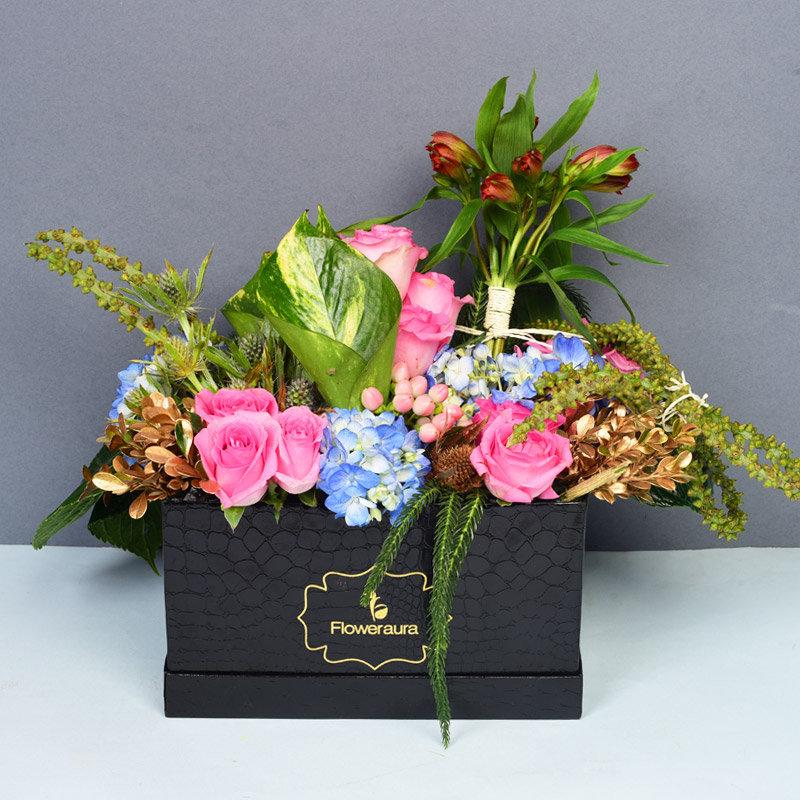 Pink Rose Floral Arrangement For Your Love