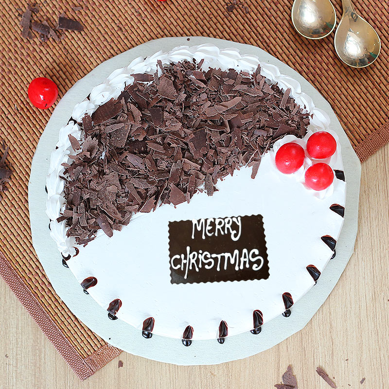 Double Choco Vanilla Christmas Cake