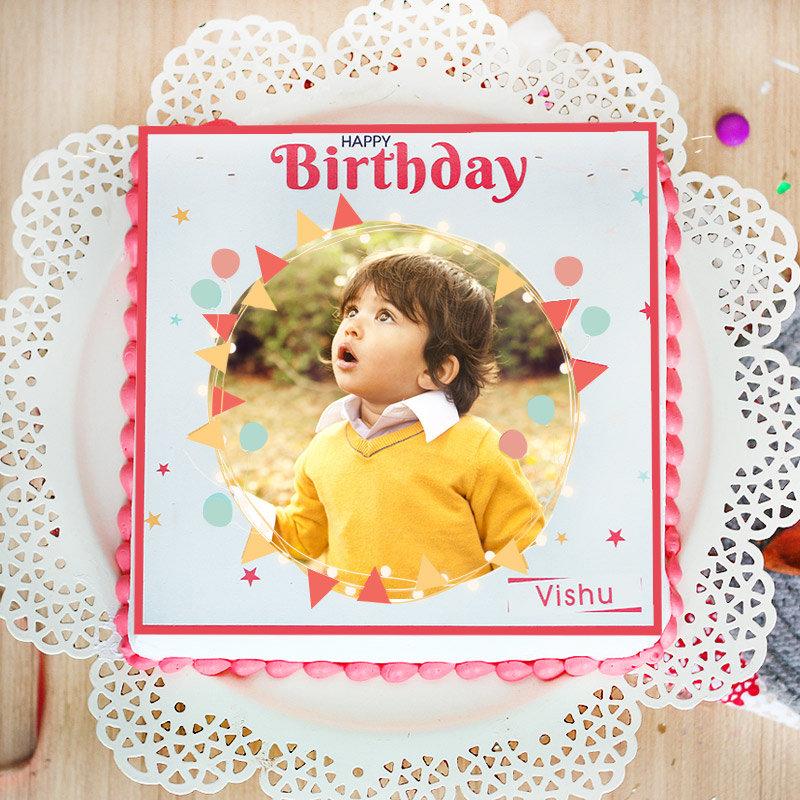 Order photo cake for birthday