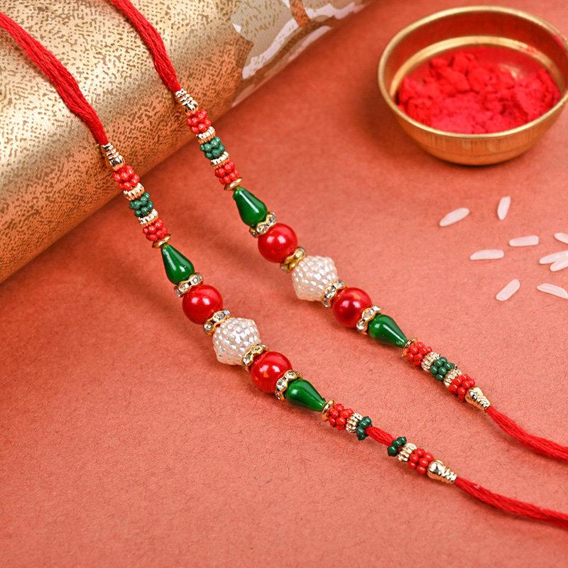Two Rakhi Threads - Set of 2 Designer Rakhi