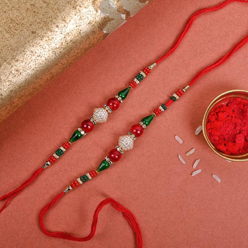 Set of 2 Designer Rakhi - Two Rakhi Threads