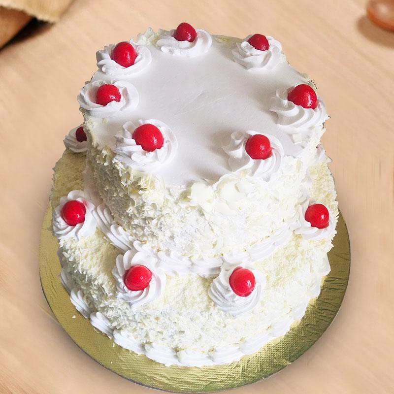 2 Tier Vanilla Cake