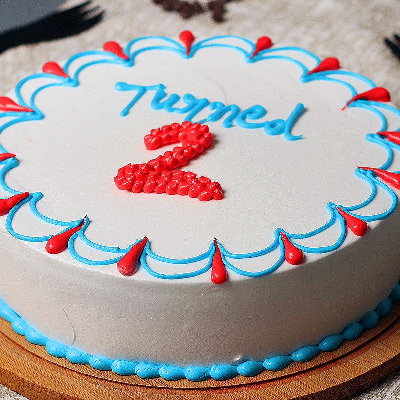 Zoom view of 2nd Birthday Cake