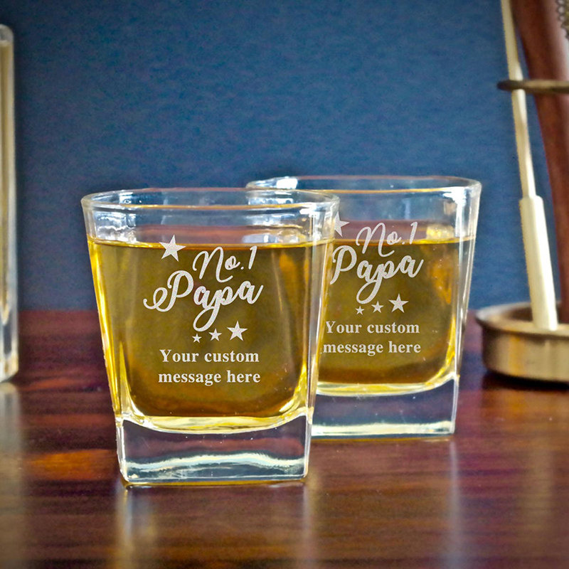 Unique Design Whisky Glass for Papa