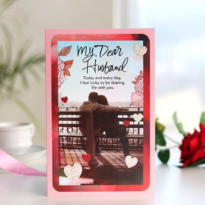Valentine Day Greeting Card For Husband