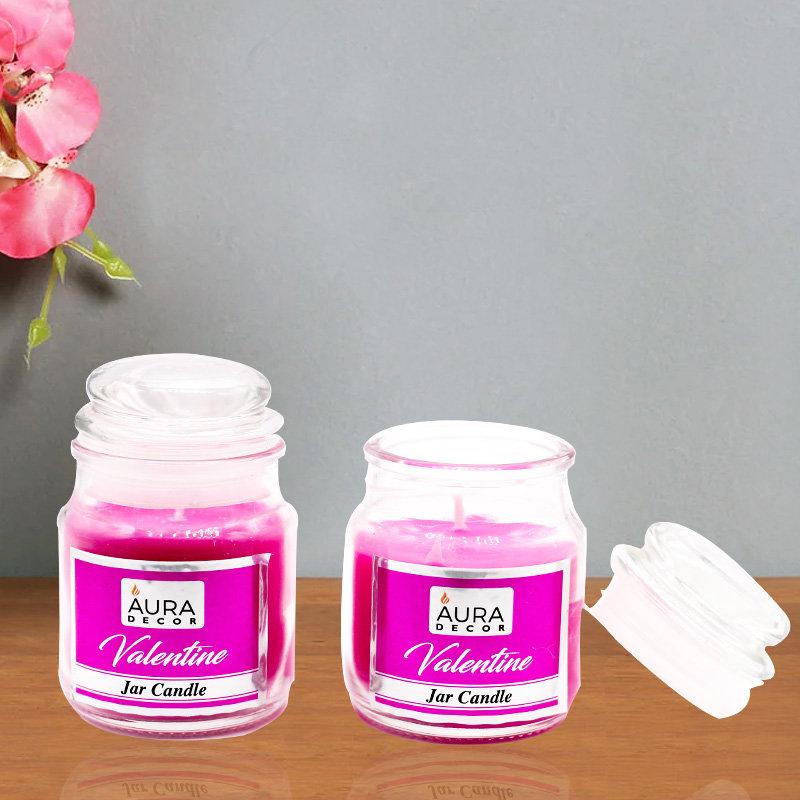 Valentine Jar Candles - 2 Jar Candles Valentine