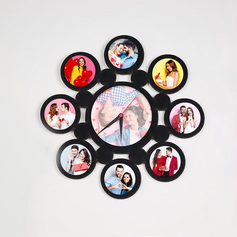 Valentine Photo Wall Clock